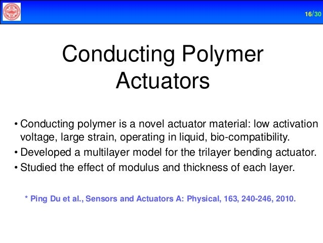 Conducting polymer actuators phd thesis