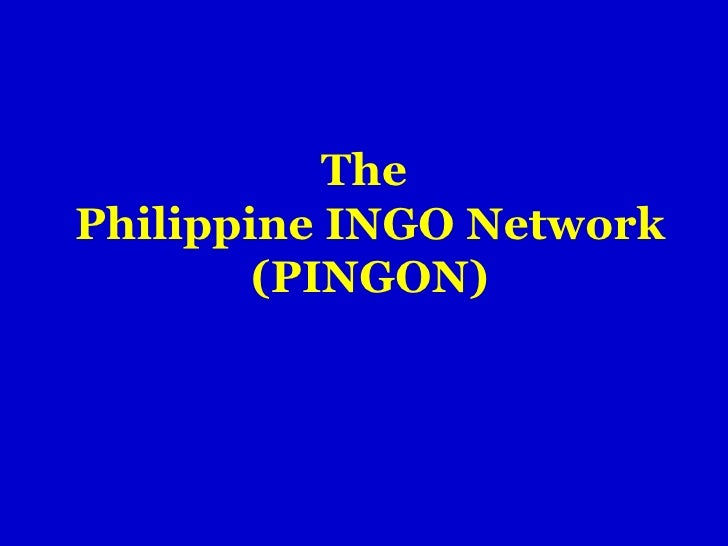 The  Philippine INGO Network (PINGON)