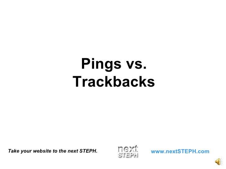 Pings and Trackbacks