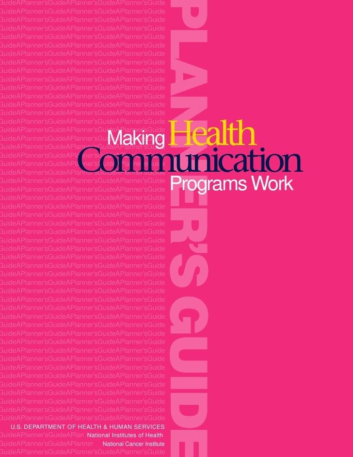 Pink Book Making Health communication programs work