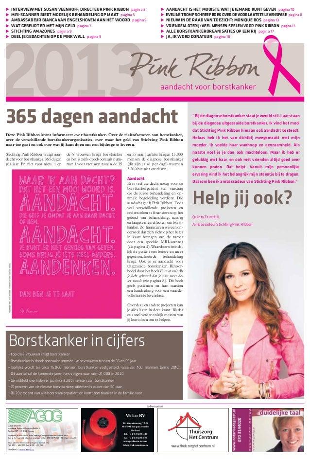 Pink Ribbon promotiekrant januari 2013