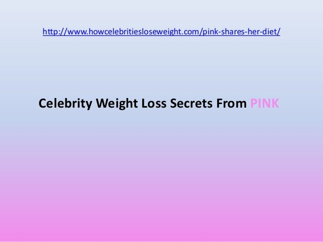 Pink's exercise and diet