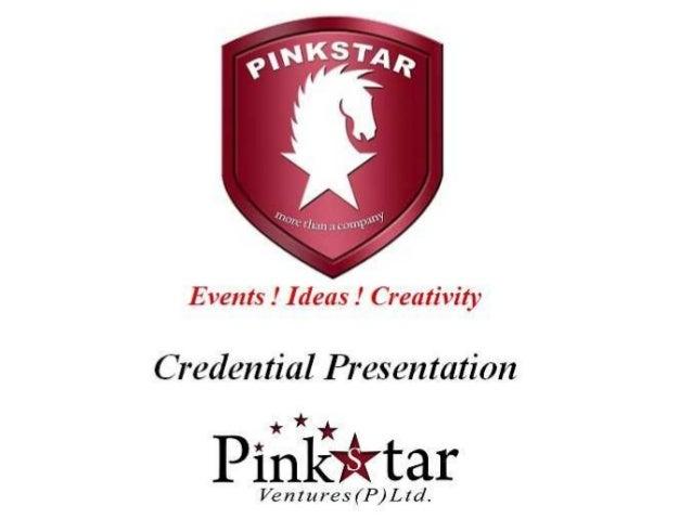 Pinkstar group credentials 2013 ppt