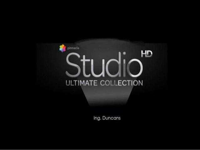 PINNACLE STUDIO  • Es un software de edición de vídeo profesional que te permite  capturar vídeos de nuestra cámara, recor...