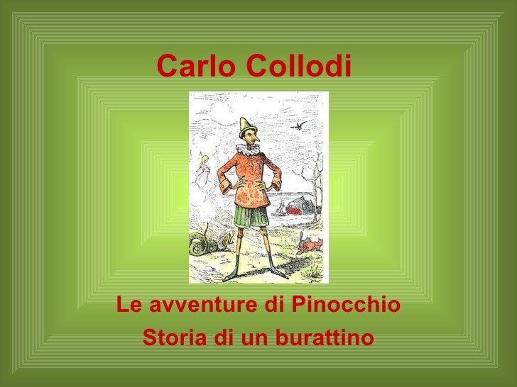 Carlo Collodi Le avventure di Pinocchio Storia di un burattino