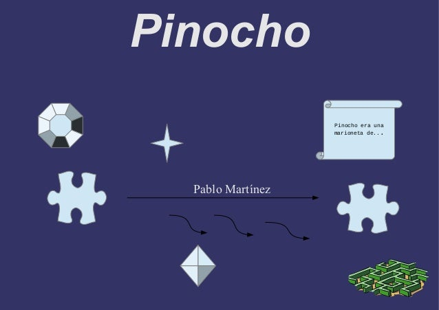 Pinocho Pablo Martínez Pinocho era una marioneta de...