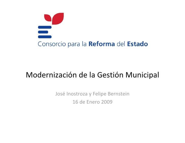 Proyecto: Modernización de la Gestión Municipal