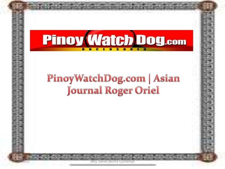 PinoyWatchDog.com | Joel Bander Sex Scandal Victim