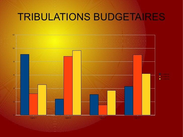 TRIBULATIONS BUDGETAIRES