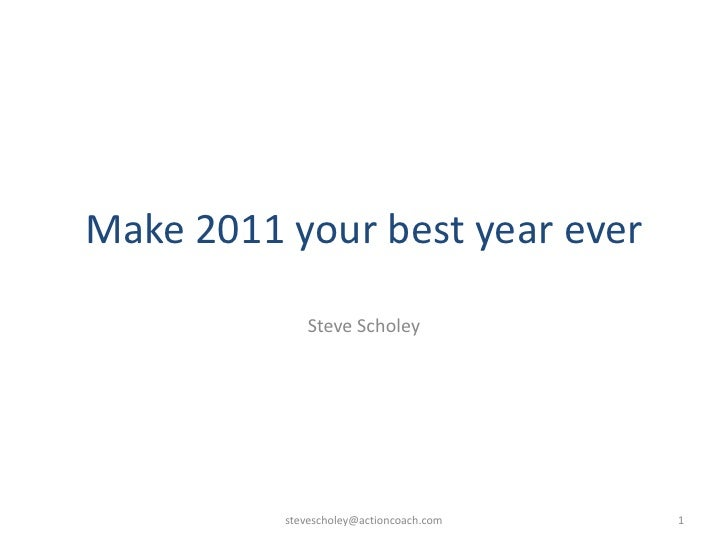 Pin Presentation   Make 2011 Your Best Year Ever