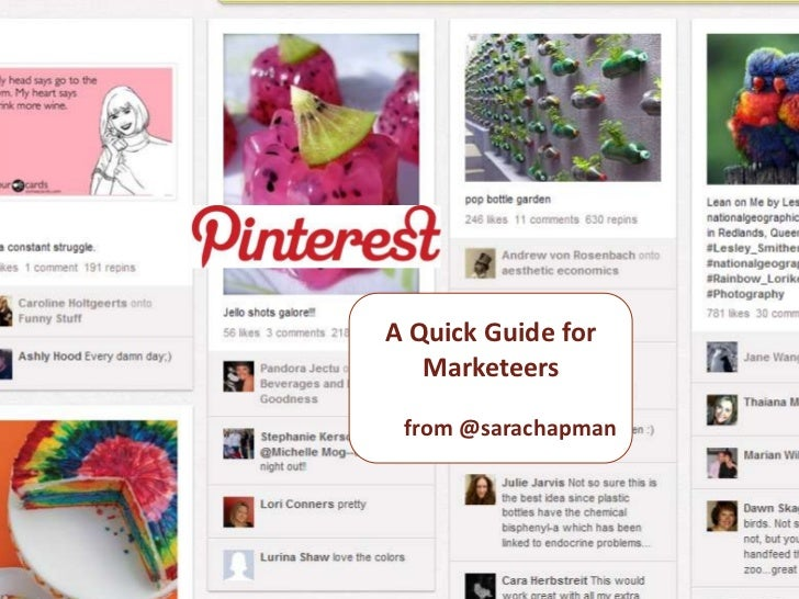 Pinterest   a quick guide  for marketeers
