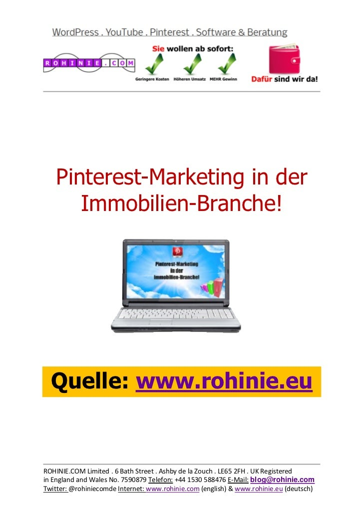 Pinterest im Immobilien-Marketing!