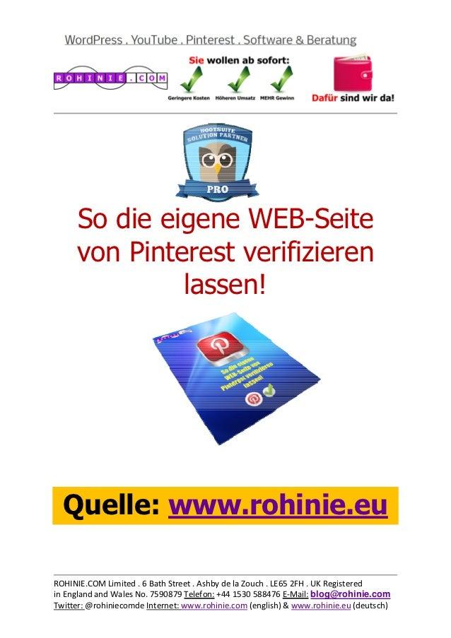 So die eigene WEB-Seite ...