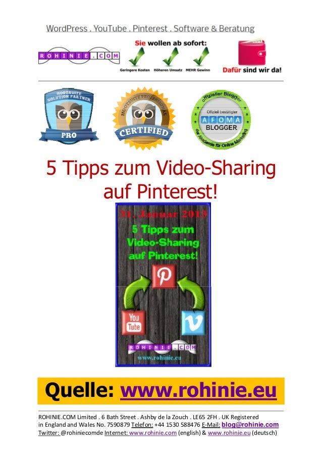 5 Tipps zum Video-Sharing...