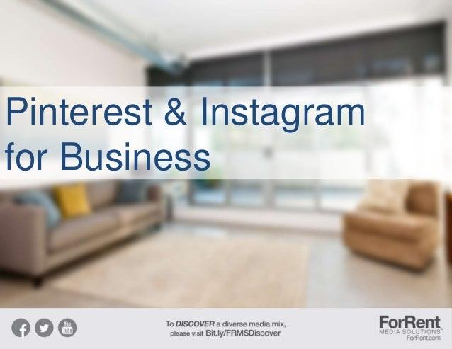 Pinterest & Instagram for Business
