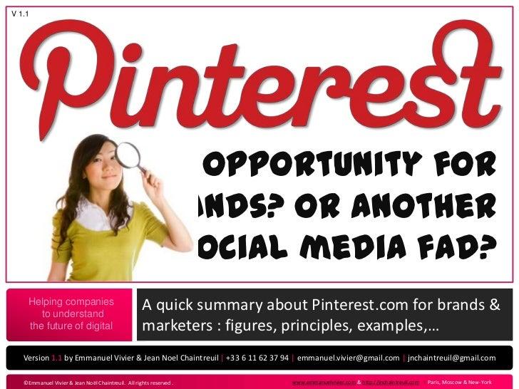 Pinterest for Brand (E. Vivier / JN. Chaintreuil)