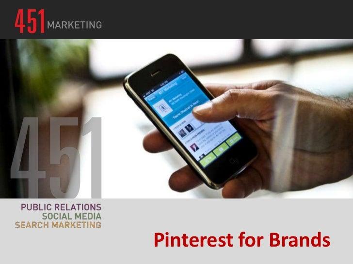 Pinterest for Brands Webinar 09 27 12