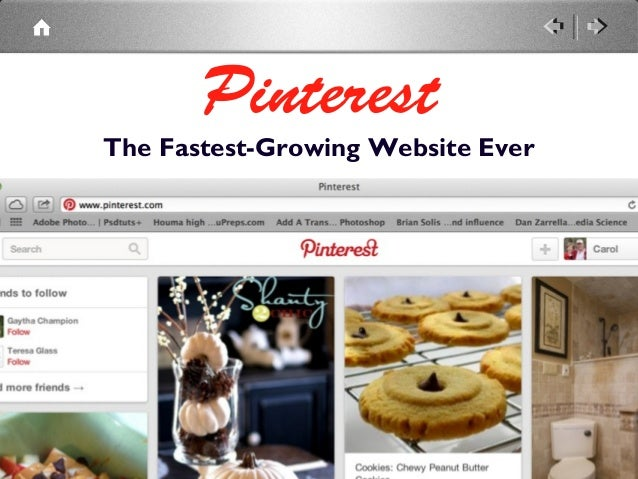Pinterest The Fastest-Growing Website Ever
