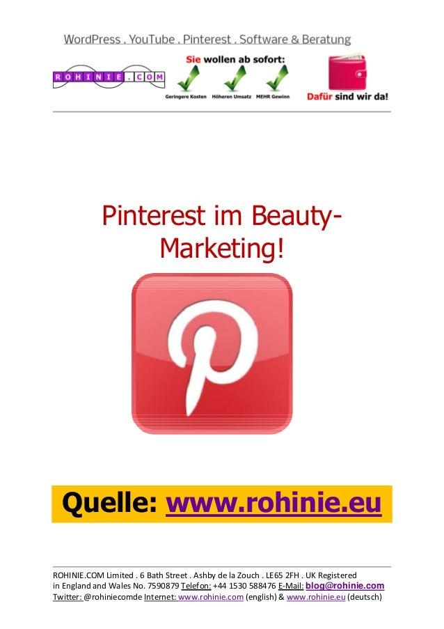 Pinterest im Schönheitssalon / überarbeitet