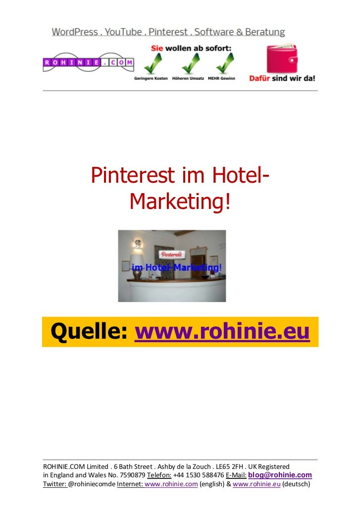 Pinterest im Hotel-Marketing