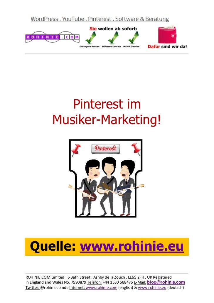 Pinterest im Musiker-Marketing
