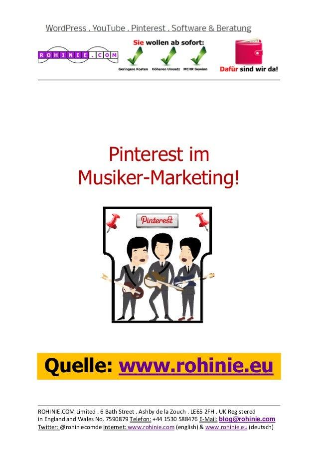 Pinterest im Musiker-Marketing / überarbeitet