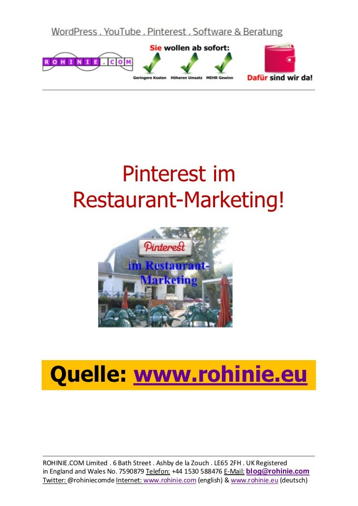 Pinterest im Restaurant-Marketing