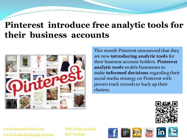 Pinterest introduce free analytic tools for their business accounts