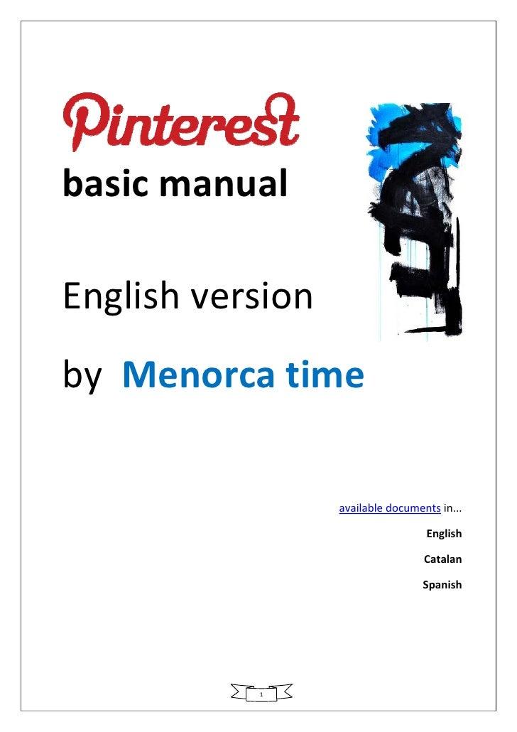 Pinterest manual v1.2 - English