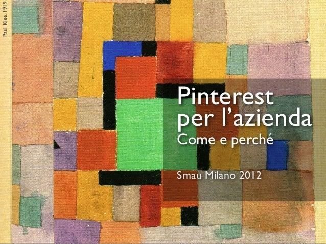 Pinterest per l'azienda - SMAU Milano 2013