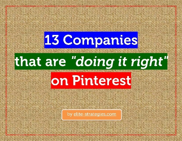 We hope that you've enjoyed this short visual presentation about Pinterest. For moregreat posts about social media and SEO...
