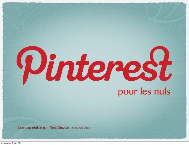 Pinterest pour les nuls