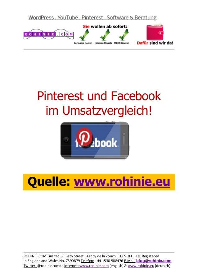 Pinterest und Facebook im Umsatzvergleich
