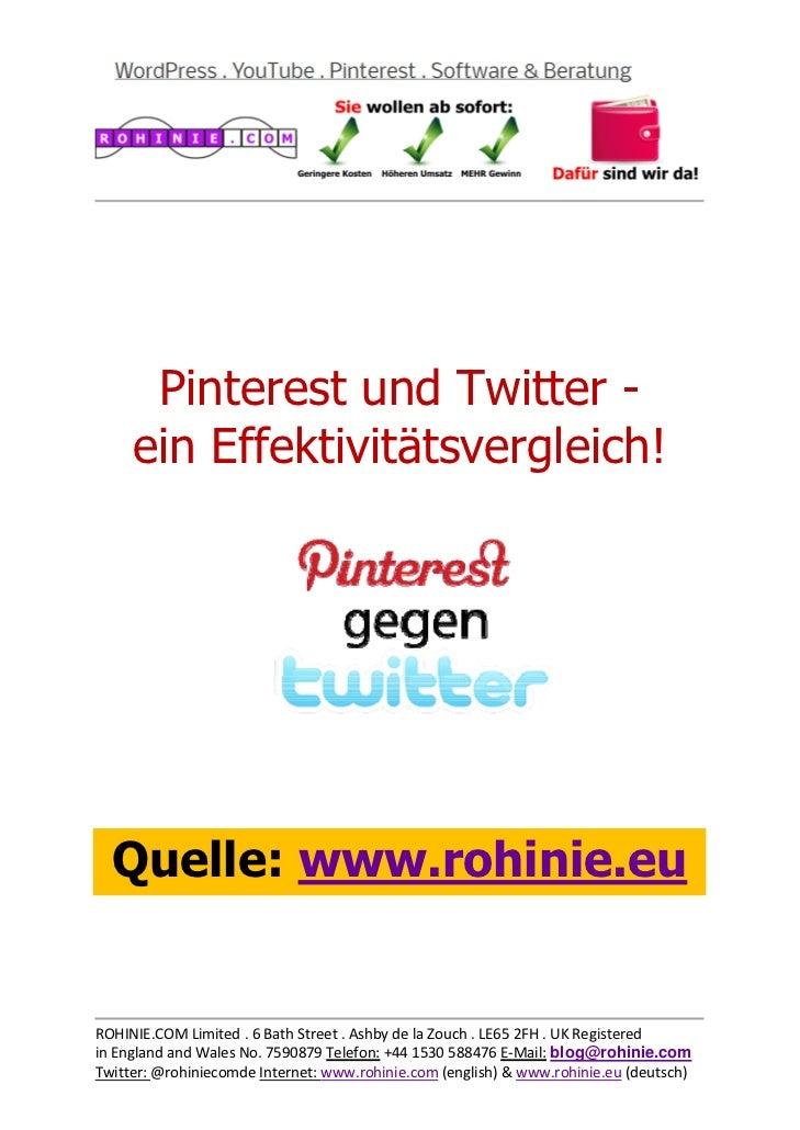 Pinterest und Twitter -...