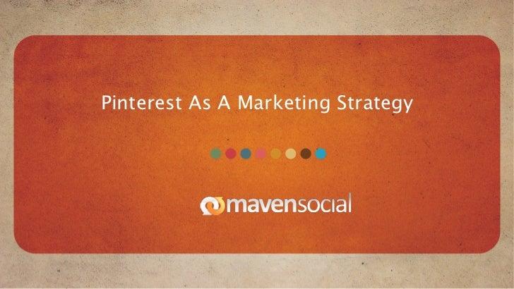 Pinterest As A Marketing Strategy