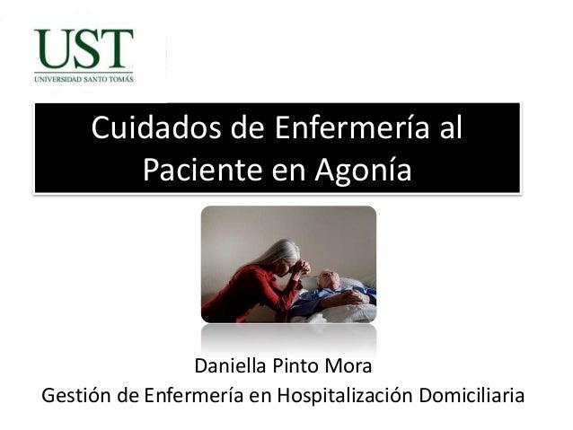 Atención de enfermería en paciente en agonia