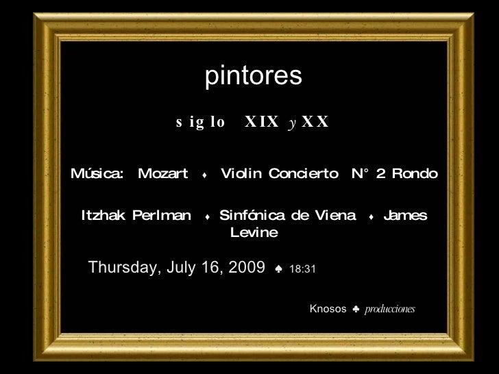 Pintores siglo XIX y XX