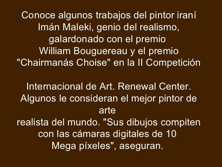 Conoce algunos trabajos del pintor iraní Imán Maleki, genio del realismo, galardonado con el premio  William Bouguereau y ...