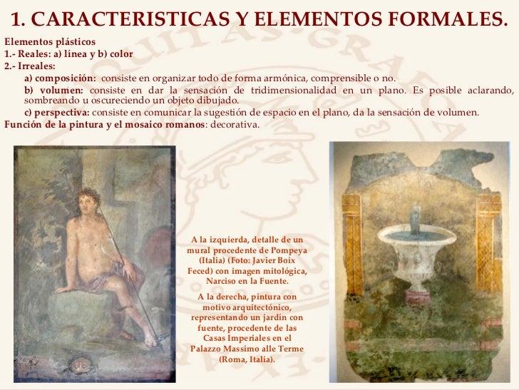 La pintura y el mosaico romanos for Caracteristicas de un mural