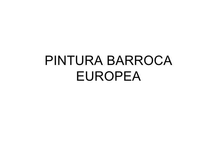 PINTURA BARROCA EUROPEA