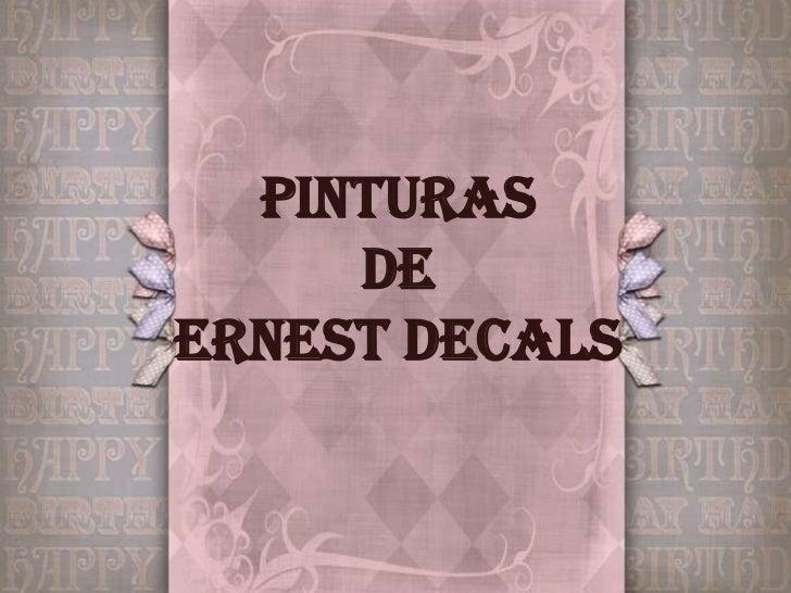 PINTURAS DEERNEST DECALS<br />
