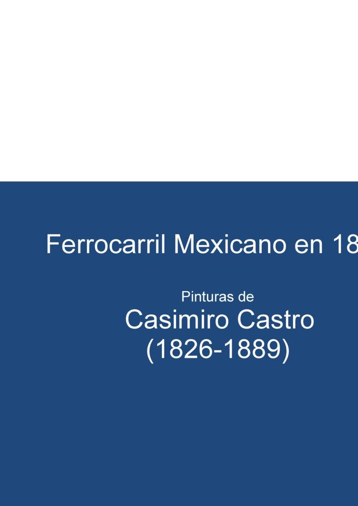 Pinturas del Ferrocarril Mexicano 1877
