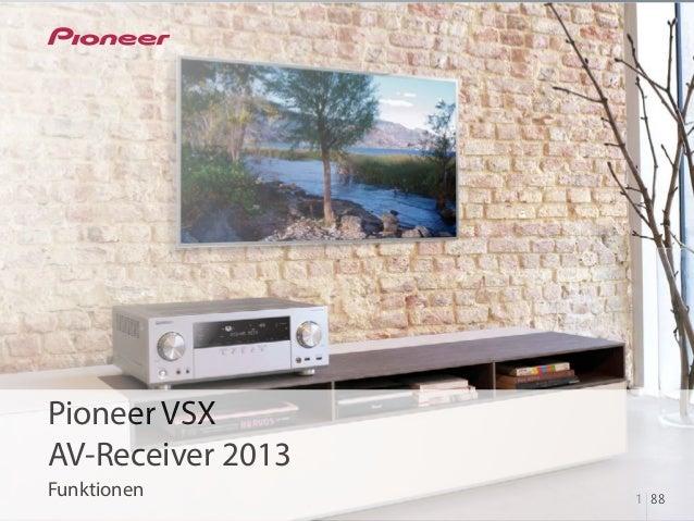 Pioneer AV Receivers 2013 - VSX Serie Funktionen