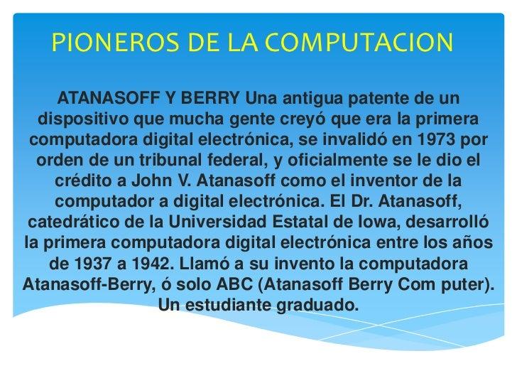 Pioneros de la computacion