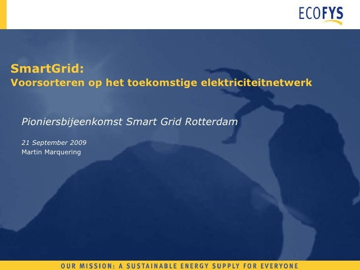 Pioniersbijeenkomst Rotterdam Smart Grid