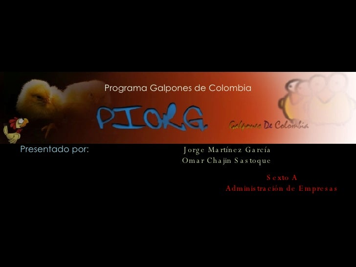 Piorg Colombia
