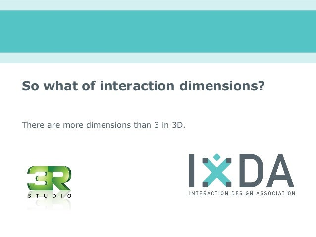 So what of interaction dimensions?There are more dimensions than 3 in 3D.