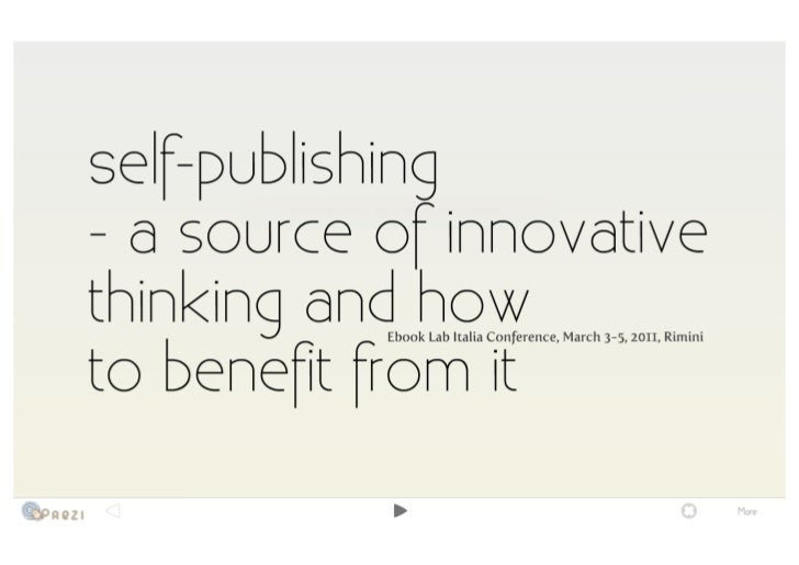 Piotr Kowalczyk @ Ebook Lab Italia 2011 - Self-publishing, a source of innovative thinking and how to benefit from it