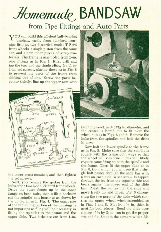 Pipe bandsaw plans