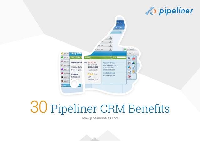 30 Pipeliner CRM Benefits www.pipelinersales.com